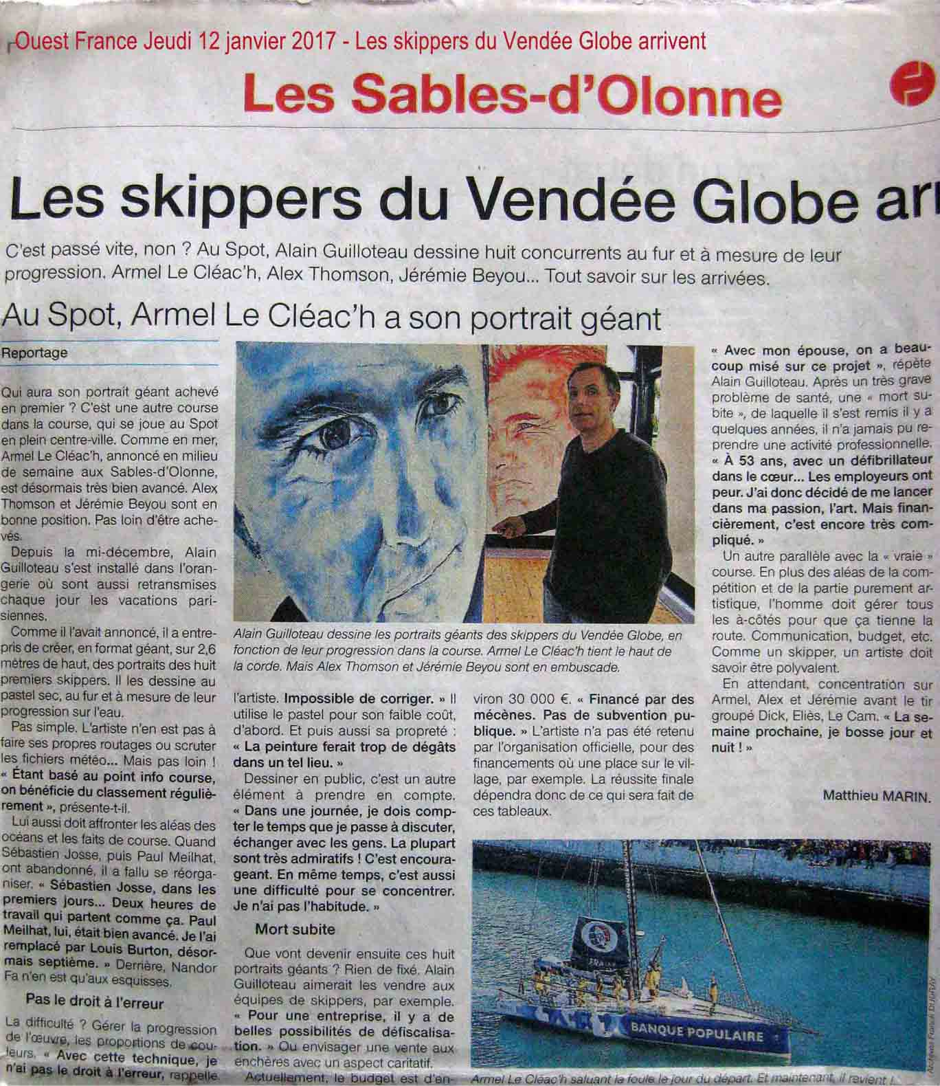 Ouest France 12 janvier 2017 light