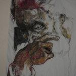 Penseur pastel portrait AL1